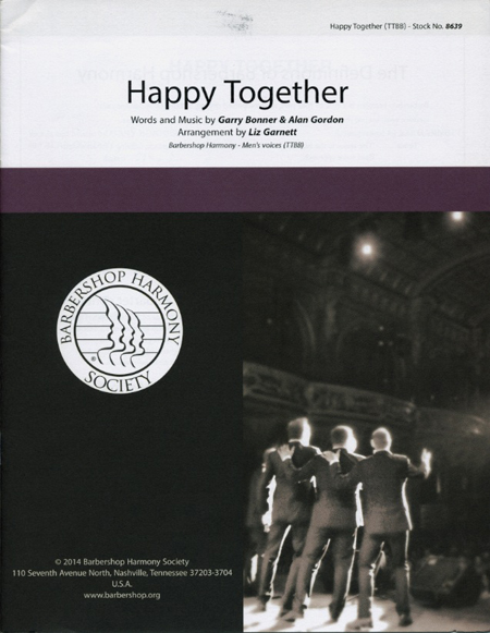 Happy Together : SSAA : Liz Garnett : Garry Bonner : Sheet Music : 00151487 : 812817020931