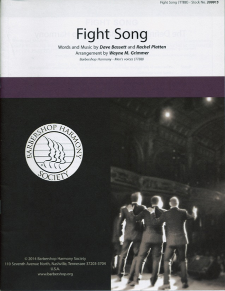 Fight Song : TTBB : Wayne M. Grimmer : Rachel Platten : Sheet Music : 00155682 : 812817020955