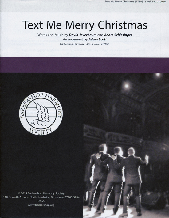 Text Me Merry Christmas : TTBB : Adam Scott : Adam Schlesinger : Sheet Music : 00155687 : 812817021006