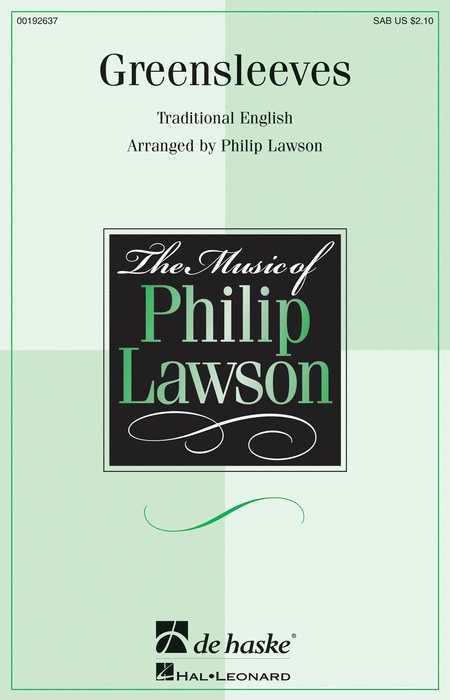 Greensleeves : SAB : Philip Lawson : Sheet Music : 00192637 : 888680637422
