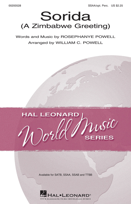 Sorida : SSAA : William C. Powell : Sheet Music : 00200528 : 888680651060
