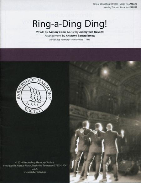 Ring-a-Ding Ding : TTBB : Anthony Bartholomew : Sammy Cahn : Forefront : Sheet Music : 00200662 : 888680654382