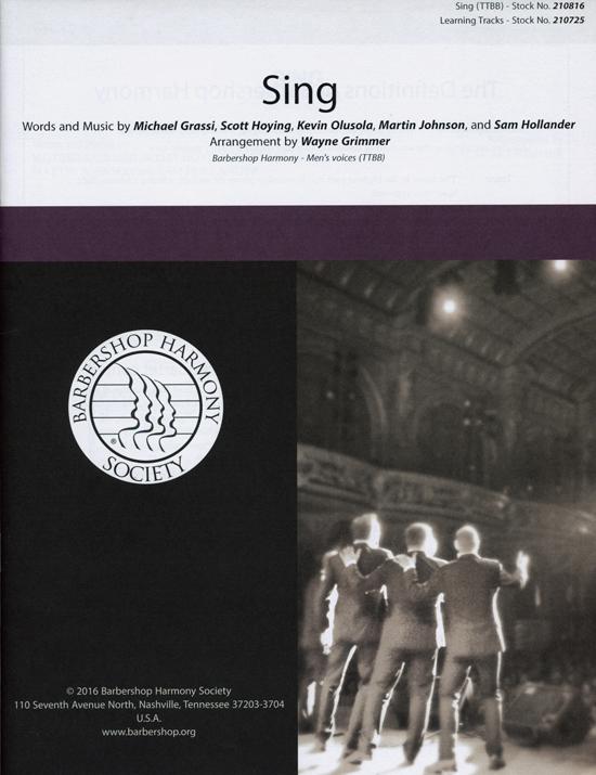 Sing : TTBB : Wayne M. Grimmer : Pentatonix : Pentatonix : Sing : Sheet Music : 00200666 : 888680655631