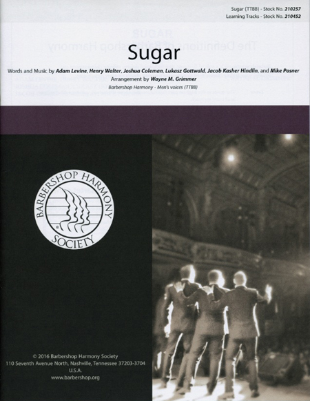 Sugar : TTBB : Wayne Grimmer : Adam Levine : Instant Classic : Sheet Music : 00200667 : 888680655815
