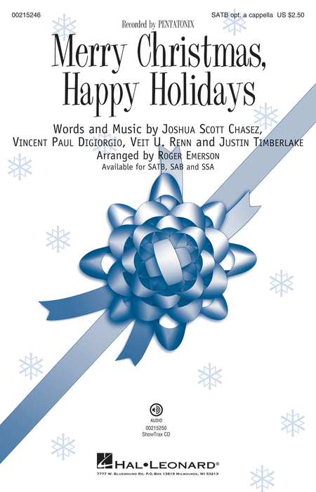 Merry Christmas, Happy Holidays : SATB : Roger Emerson : Pentatonix : Sheet Music : 00215246 : 888680664336