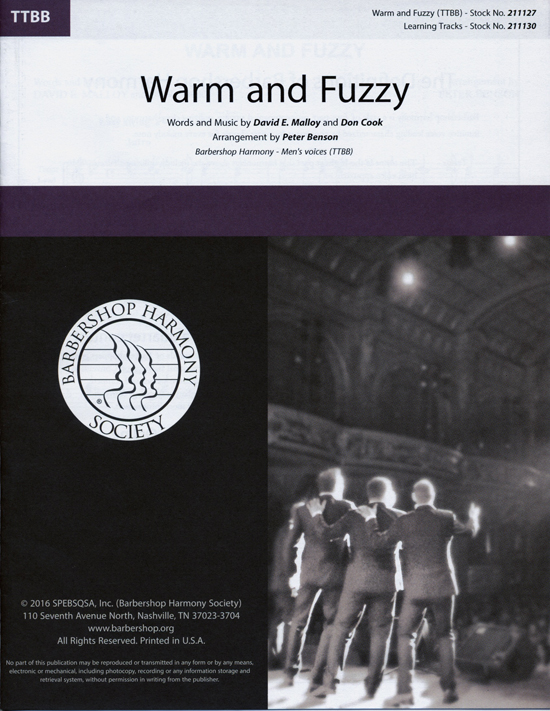 Warm and Fuzzy : TTBB : Peter Benson : Billy Gilman : Sheet Music : 00218596 : 812817021228
