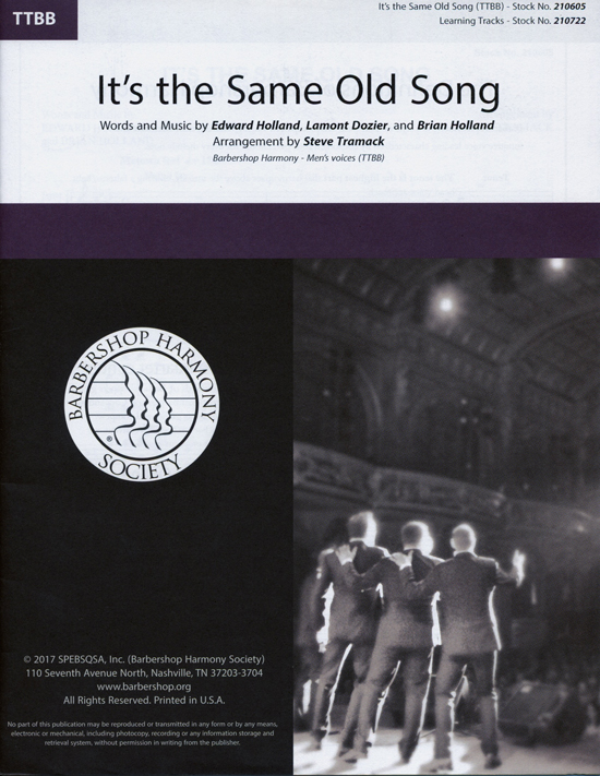 It's the Same Old Song : TTBB : Steve Tramack : Lamont Dozier : Four Tops : Sheet Music : 00234451 : 812817021303