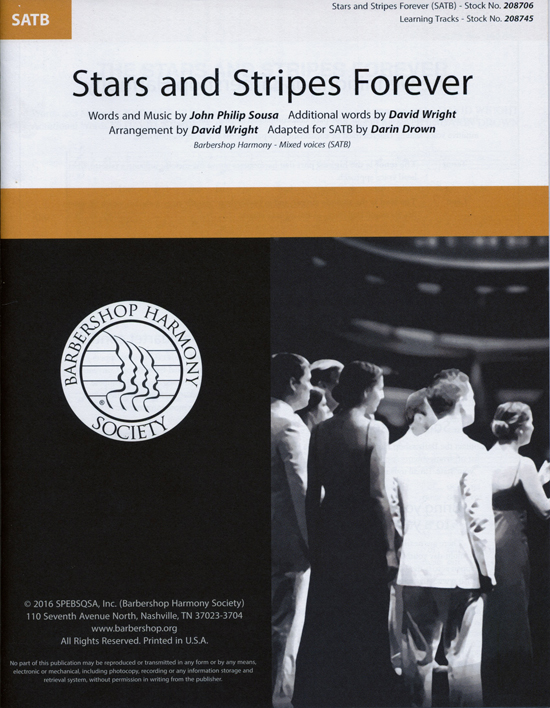 Stars and Stripes Forever : SATB : David Wright : John Philip Sousa : Double Date : Sheet Music : 00234457 : 888680694616
