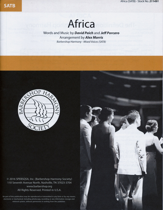 Africa : SATB : Alex Morris : David Paich : Toto : Sheet Music : 00241381 : 888680703547