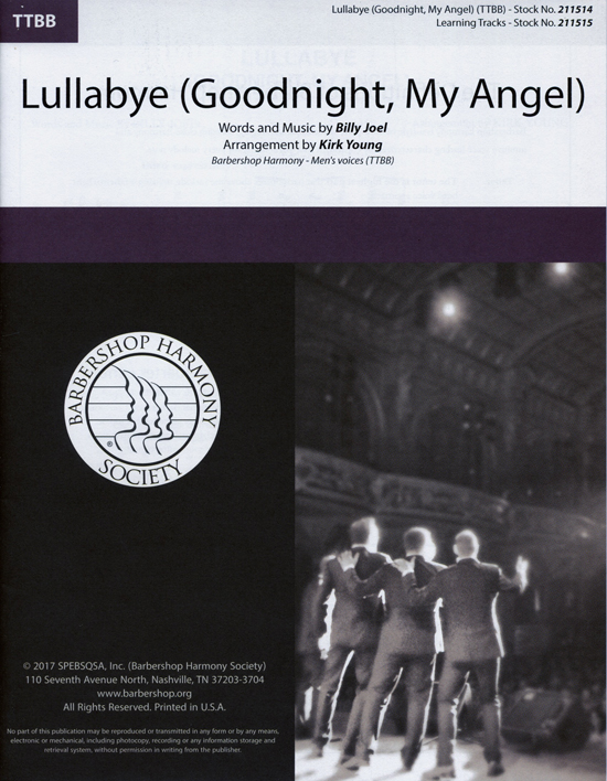 Lullabye (Goodnight, My Angel) : TTBB : Kirk Young : Billy Joel : Billy Joel : Sheet Music : 00241606 : 812817021402