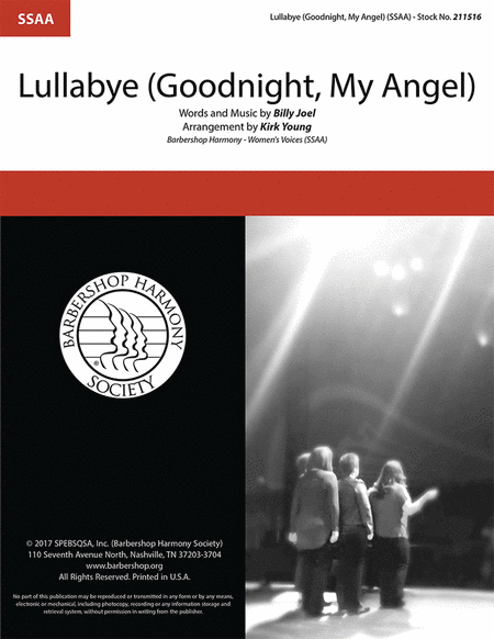Lullabye (Goodnight, My Angel) : SSAA : Kirk Young : Billy Joel : Billy Joel : Sheet Music : 00241607 : 812817021419
