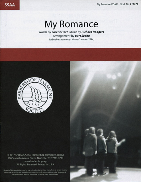 My Romance : SSAA : Burt Szabo : Richard Rodgers : Sheet Music : 00251414 : 812817021518