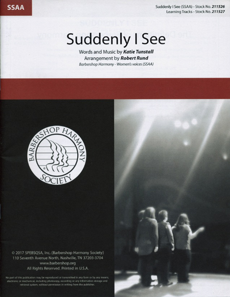 Suddenly I See : SSAA : Robert Rund : KT Tunstall : The Devil Wears Prada : Sheet Music : 00251416 : 812817021525