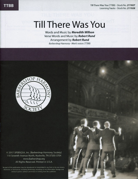 Till There Was You : TTBB : Robert Rund : Meredith Willson : Storm Front : Music Man : Sheet Music : 00251420 : 812817021532
