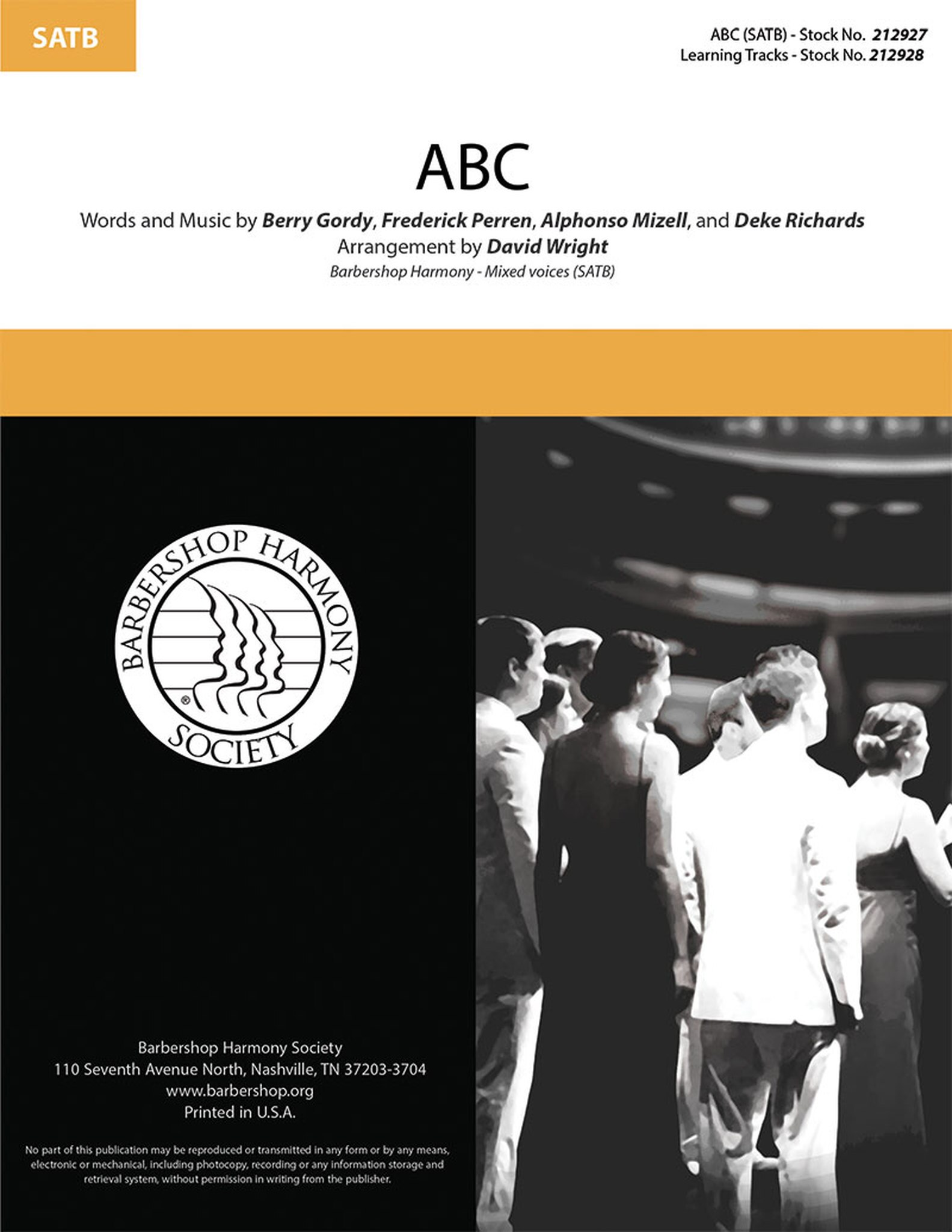 ABC : SATB : David Wright : Frederick Perren : Jackson 5 : Sheet Music : 00295005 : 888680945510