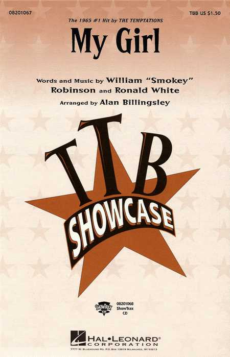 My Girl : TTB : Alan Billingsley : William Smokey Robinson : Temptations : Sheet Music : 08201067 : 073999440225