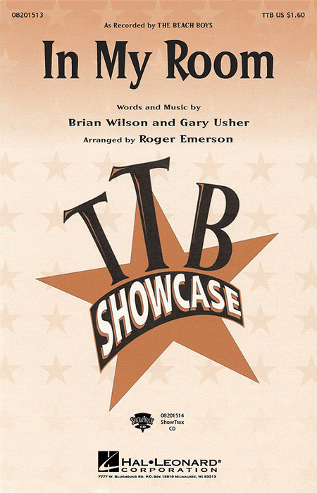 In My Room : TTBB : Roger Emerson : Brian Wilson : Beach Boys : Sheet Music : 08201513 : 073999111026