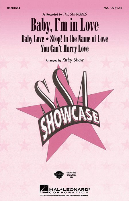 Baby, I'm in Love : SSA : Kirby Shaw : Supremes : Songbook : 08201684 : 073999858563