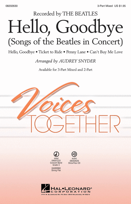 Hello, Goodbye : 2-Part : Ted Ricketts : John Lennon : Beatles : Sheet Music : 08202631 : 884088396343