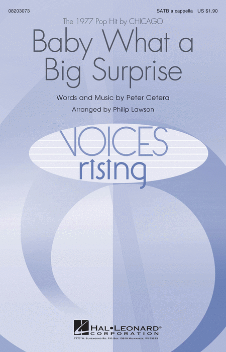 Baby What a Big Surprise : SATB : Philip Lawson : Chicago : Sheet Music : 08203073 : 884088639600