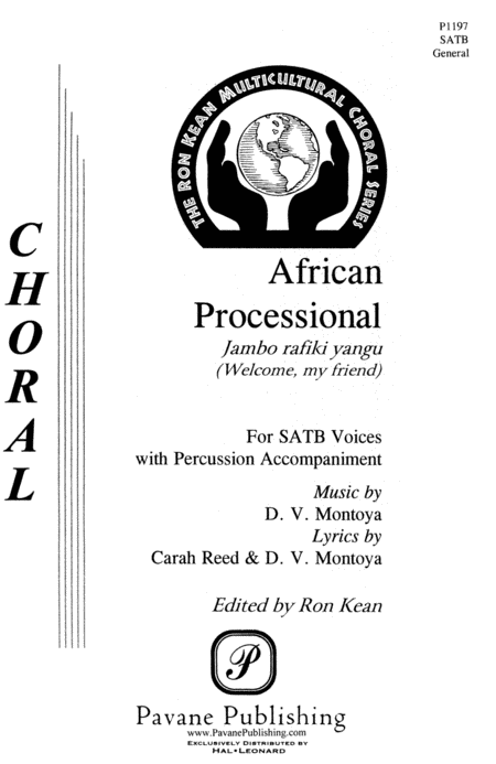 African Processional : SATB : Ron Kean : Sheet Music : 08301618 : 073999968804
