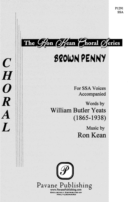 Brown Penny : SSA : Ron Kean : Ron Kean : Sheet Music : 08301771 : 884088058586