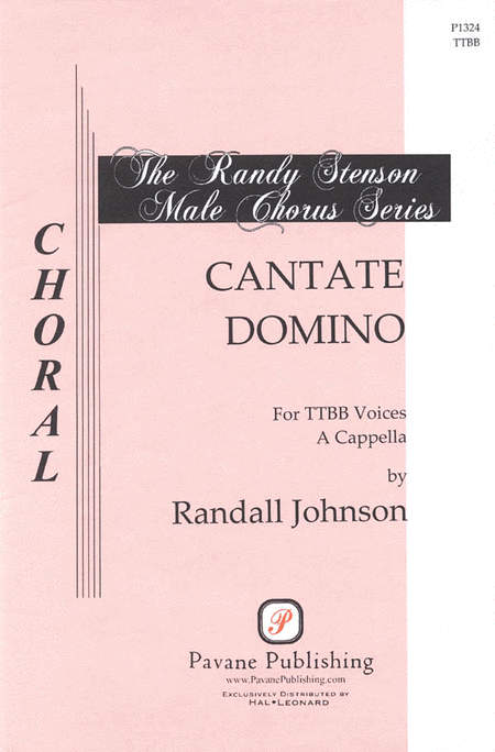Cantate Domino : TTBB : Randall Johnson : Sheet Music : 08301793 : 884088127527