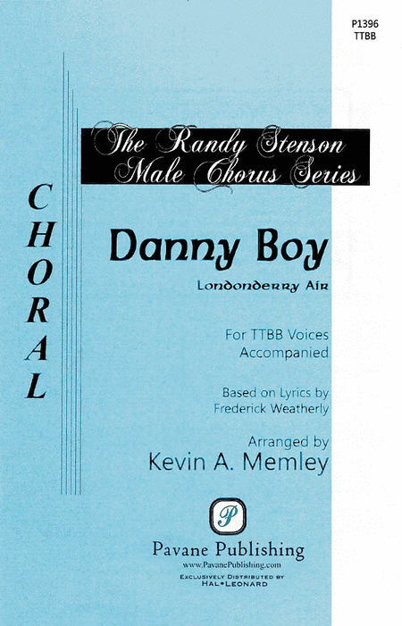 Danny Boy : TTBB : Kevin Memley : Sheet Music : 08301915 : 884088552619