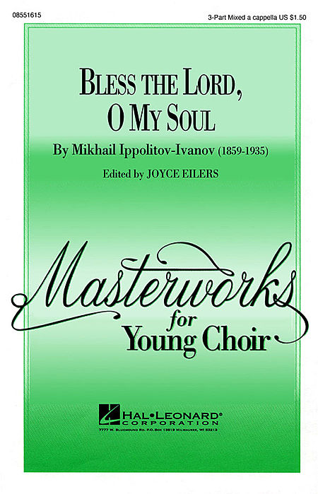Bless The Lord, O My Soul : TTB : Joyce Eilers : Sheet Music : 08551616 : 073999714319