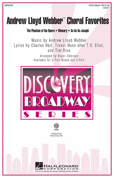 Andrew Lloyd Webber Choral Favorites : 2-Part : Roger Emerson : Andrew Lloyd Webber : Sheet Music : 08552038 : 884088213770