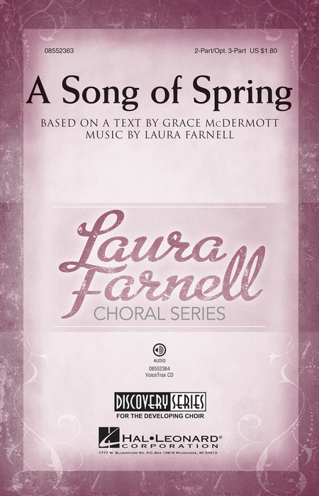 A Song of Spring : 2-Part : Laura Farnell : Laura Farnell : Sheet Music : 08552363 : 884088614768