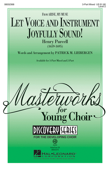 Let Voice and Instrument Joyfully Sound! : 3-Part : Patrick Liebergen : Henry Purcell : Sheet Music : 08552368 : 884088627362