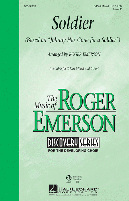 Soldier : SAB : Roger Emerson : Sheet Music : 08552383 : 884088630324