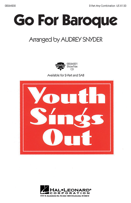 Go for Baroque : 2-Part : Audrey Snyder : Audrey Snyder : Sheet Music : 08564200 : 073999913989