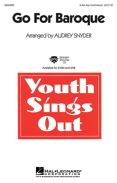 Go for Baroque : SAB : Audrey Snyder : Audrey Snyder : Sheet Music : 08564202 : 073999678024