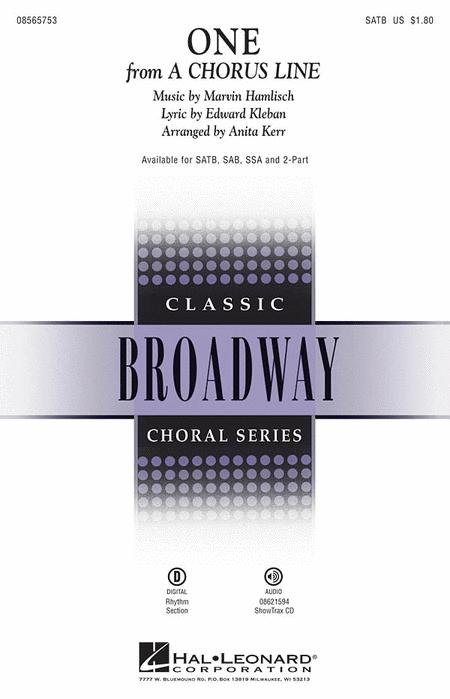 One : SATB : Anita Kerr : Marvin Hamlisch : A Chorus Line : Sheet Music : 08565753 : 073999657531 : 1423438701