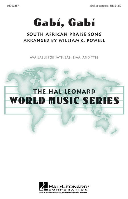 Gabi, Gabi : SAB : William Powell : Sheet Music : 08703357 : 073999915747