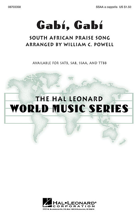 Gabi, Gabi : TTBB : William Powell : Sheet Music : 08703359 : 073999919233
