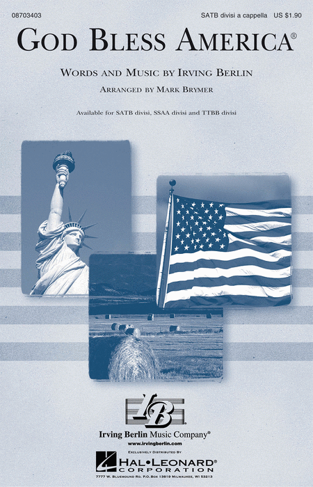God Bless America : SSAA : Mark Brymer : Irving Berlin : Sheet Music : 08703405