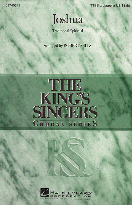 Joshua : TTBB : Robert Sells : King's Singers : Sheet Music : 08740311 : 073999403114