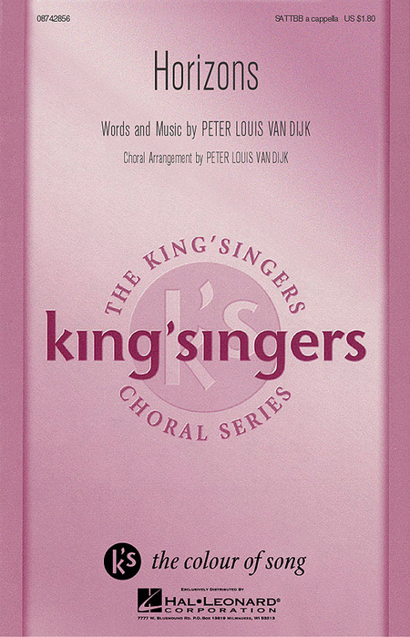 Horizons : SATTBB : Peter Louis van Dijk : Sheet Music : 08742856 : 073999428568