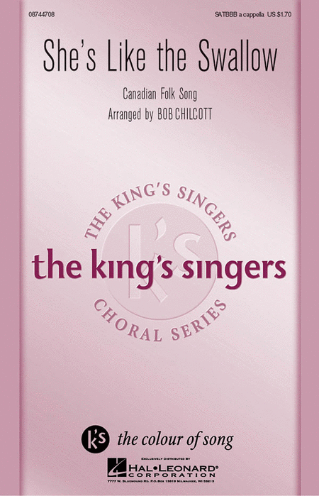 She's Like the Swallow : SATB : Bob Chilcott : King's Singers : Sheet Music : 08744708 : 073999827484