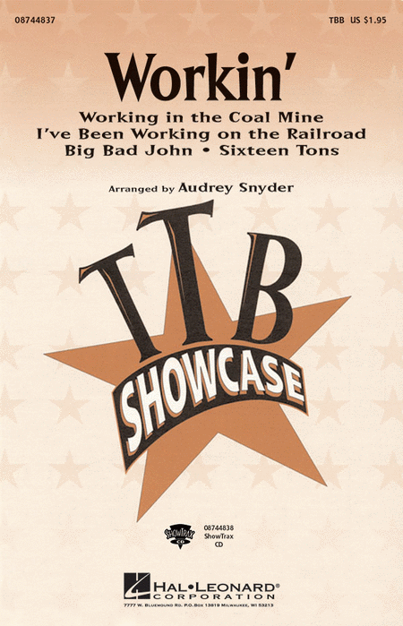 Workin' (Medley) : TBB : Audrey Snyder : Sheet Music : 08744837 : 073999969337
