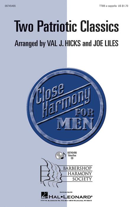 Two Patriotic Classics : TTBB : Val Hicks : Sheet Music : 08745495 : 884088069087