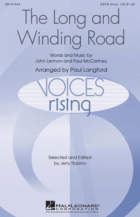 The Long and Winding Road : SATB Divisi : Paul Langford : Paul McCartney : Beatles : Sheet Music : 08747445 : 884088205416