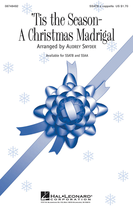 Tis the Season - A Christmas Madrigal : SSATB : Audrey Snyder : Sheet Music : 08748492 : 884088235673
