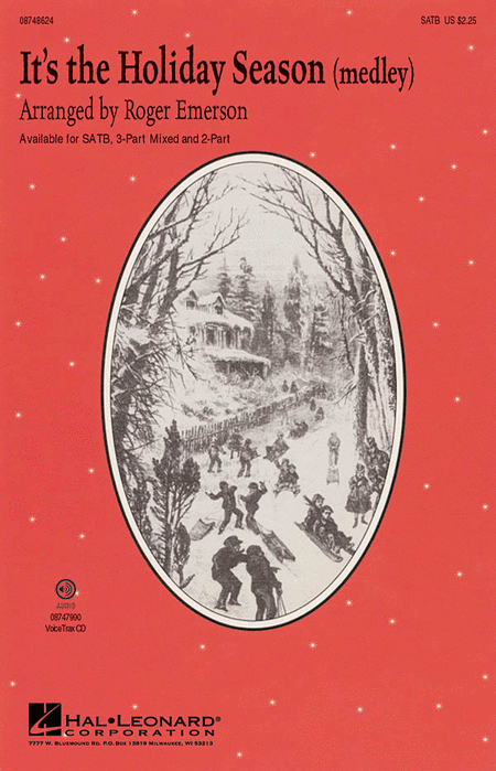 It's the Holiday Season : SATB : Roger Emerson : Sheet Music : 08748624 : 884088237431
