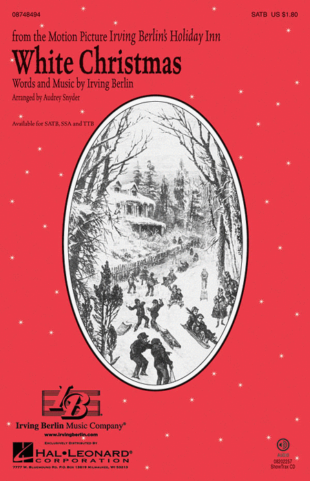 White Christmas : SATB : Audrey Snyder : Irving Berlin : Drifters : Sheet Music : 08748494 : 884088235697