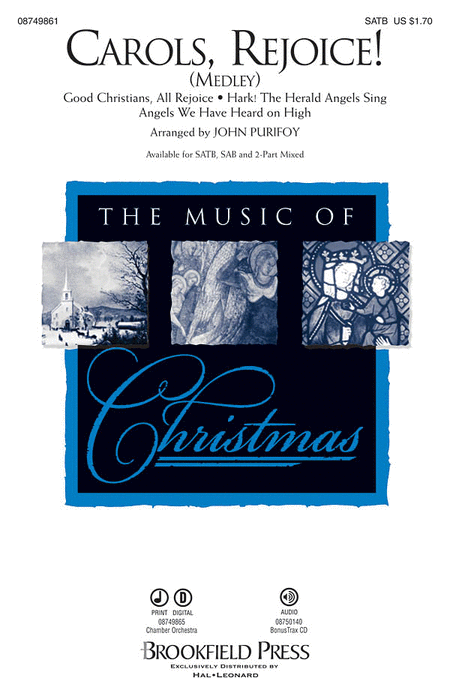 Carols, Rejoice! : SAB : John Purifoy : Sheet Music : 08749862 : 884088328528