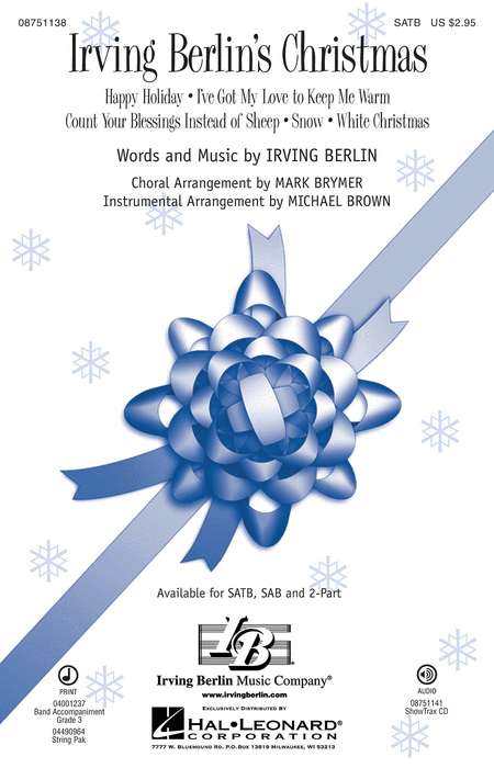 Irving Berlin's Christmas : SATB : Michael Brown : Irving Berlin : Sheet Music : 08751138 : 884088476786